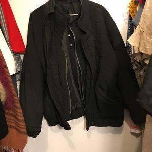 Topshop boutique black bomber jacket